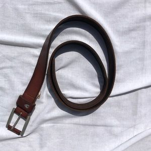 Nixon brown slim leather belt